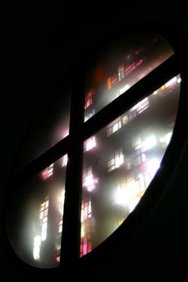 Fensterrosette von innen